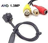 CNDST CCTV HD AHD 720P Mini cámara de Seguridad espía estenopeica 3.6mm 90degree Mini cámara de vigilancia CCTV Oculto
