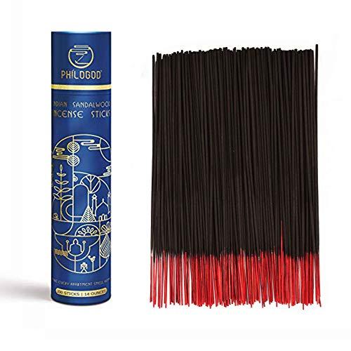 Hochwertige Indische Räucherstäbchen Handgerollt 100% Natürlich mit Anhaltendem Weihrauch für Yoga Meditation 200 Räucherstäbchen in einer Packung -