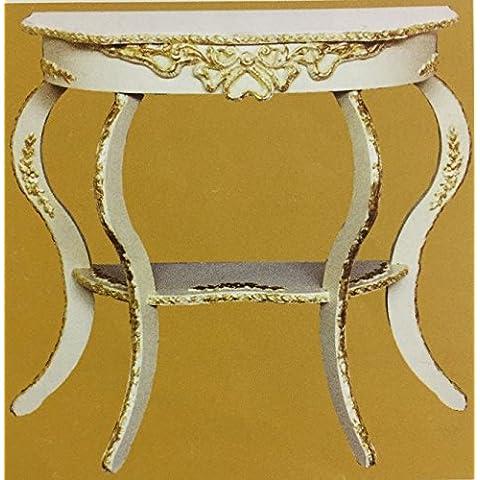 console stile barocco avorio patinato rilievo oro ingresso