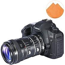 First2savvv XJPJ-CCW-16E07 tubo de extensión macro de con enfoque automático para cámaras fotográficas Canon EOS 50D 60D 60Da 70D 7D 5D 6D 760D + naranja paño de limpieza