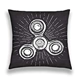 Taies d'oreillers Throw Pillow Cover Pillowcase spinner vintage label hand drawn sketch grunge textured retro badge typography design print cha Sofa Home Decorative Cushion Case 18'x18'