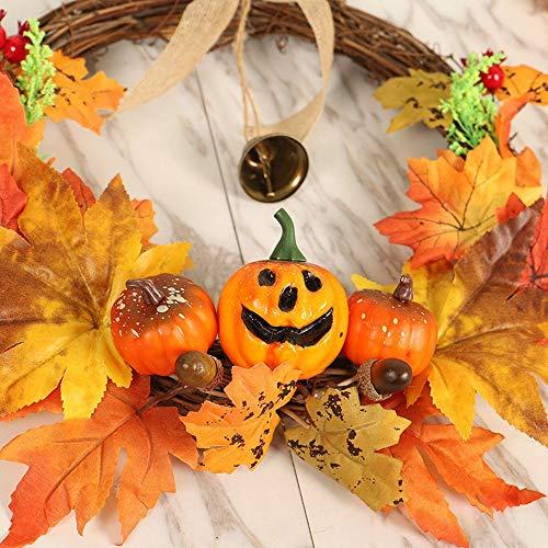 MoonyLI 16 Zoll Herbst Kranz für Haustür - für Haustür Dekor Halloween und Thanksgiving Home Indoor oder Outdoor Arrangement Dekoration