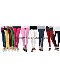 ROOLIUMS ® (Brand Factory Outlet) Women's Leggings Combo (Pack Of 10) 160 GSM, 4 Way - FREE SIZE (Free Size, 10-1)