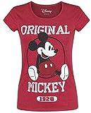 Micky Maus Original T-Shirt rot meliert S