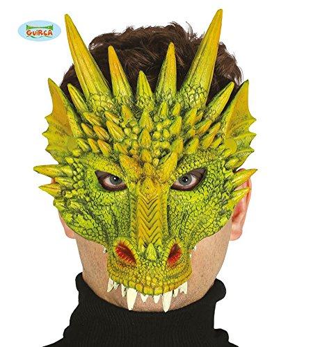 grüne Drachen Latex Maske Halloween Horror Halloweenmaske Drachenmaske (Party Film Kostüm Motto Ideen)