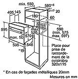 Siemens HB532E0F four - fours (Intégré, Electrique, A-20%, Noir, Acier inoxydable, boutons, Rotatif, Devant)