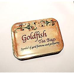 Personalisiertes Geschenk 4Goldfish Teebeutel, Hibiskus & Stevia, viel Glück Geschenk, Einzigartiges Geschenk, Creative Teebeutel, Geburtstag Geschenk, personalisierbares Geschenk mit Ihrer Nachricht