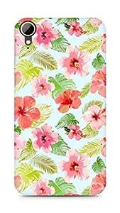 Amez designer printed 3d premium high quality back case cover for HTC Desire 828 (floral )