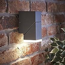 Biard Aplique LED Mural Interior Capri 8W Interior o Exterior Cuadrado – Jardín Baño Resistente al