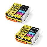 IKONG PGI 570 CLI 571, Compatible Cartouche 570 571, Haut Rendement, 10 Paquets, Travailler avec PIXMA MG5750 MG5751 MG5752 MG5753 MG5700 TS5050 TS5051 TS5053 TS5055 MG6850 Imprimant