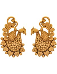 BFC- Peacock Designer One Gram Gold Plated Copper Stud Earrings For Woman And Girls