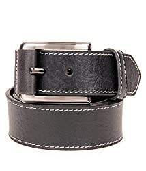Walletsnbags Casual Leather Buckle Belt (B 46_Black_30)