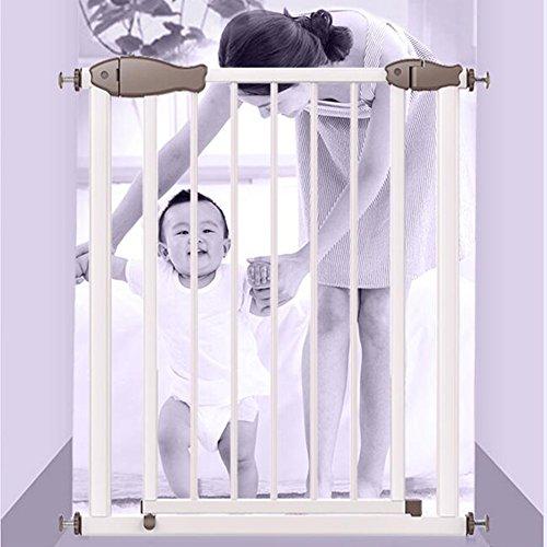 Barrière de sécurité Métal Pet Gates pour Chat Réglable Blanc Porte De Bébé Et Play Protecteur De Mur De Cour pour Porte D'escalier 75-126 Cm De Largeur (Taille : 114-120cm)