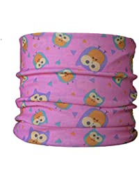 Multifunctional Headwear (CHILD SIZE) Owl on Pink