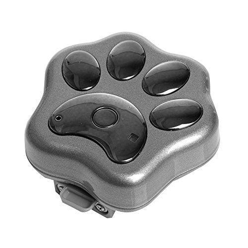 Pet GPS Tracker Halsband WiFi Hund Antiverlust Gerät Pet Locator rf-v30Smart blinkender LED Elektronische Micro wasserfest Sicherheit Alarm Hund finder Locator, Gray without package (Pet-tagg)