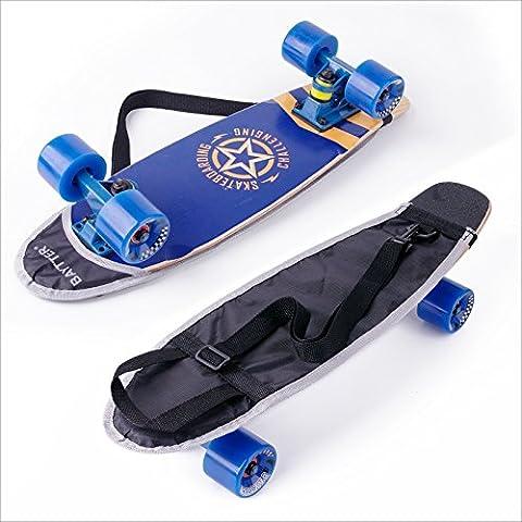 BAYTTER® Rucksack Skateboardtasche Tragetasche für Skateboard Mini Cruiser 22 Zoll Backpack Crossboby