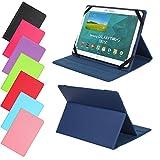 Universal Slim Tasche für Tablet Modelle 7, 8, 9 oder 10 Zoll Größe Schutz Case Hülle Cover (7 / 8 Zoll, Dunkelblau)