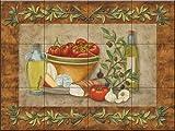 Fliesenwandbild - Toskana Treats I von Mary Lou Troutman - Küche Aufkantung/Bad Dusche