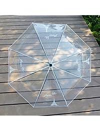 Paraguas transparente tres plegable pequeño paraguas masculino fresco plegable estudiante de viaje portátil pequeño paraguas mujer