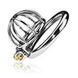 Peniskäfig Keuschheitskäfig Chastity Cage Ultra small steel Cock Cage Male Chastity Device Shortest Model (Hodenring Ø 4,50cm)