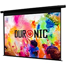 Duronic (Certified Refurbished Projector Screen EPS92/169 HD Electric Projection For | School | Theatre | Cinema | Home(Screen: 203cm(w) X 114cm(h)-16:9 Widescreen Matte White