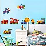 Rainbow Fox The Animals art icecream Train Wall Stickers for decorating Kids Rooms,Nursery,Baby, Boys & Girls Bedroom (TC2039)