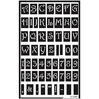 Armour Products Plastic Over 'N' Over Reusable Stencils 5-inch x 8-inchLarge Alphabet