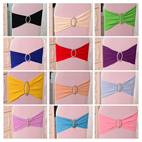 Sashes - Chair Sash Bands Spandex 15x36cm Purple Stretch Lycra Cover Sashes Bow With Diamond Ring Decoration - Baby Spring Tiffany Stretch Tool Rose Table Tulle Bows Folding Bands Purple Green S