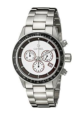 Gevril Men's A2113 Tribeca Analog Display Quartz Silver Watch