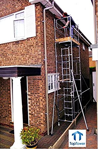 Classic 6.5m DIY Scaffold Tower, Castors & Outriggers. Galvanised Steel, Highest Quality, British Made