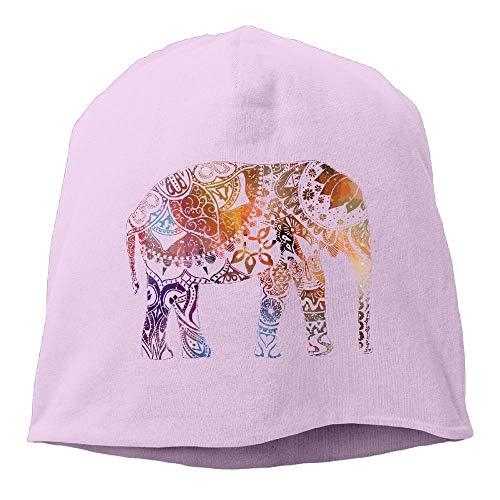 ghkfgkfgk Colorful Happy Elephant Watercolor Space Unisex Casual Fashion Durable Winter Warm Skull Cap