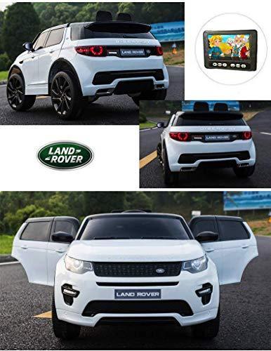 TOYSCAR electronic way to drive Auto Macchina Elettrica per Bambini SUV Land Rover Discovery 12V Display 4 Pollici con Telecomando Full Optio