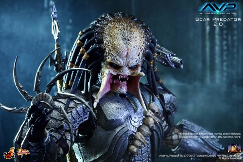 "[Movie Masterpiece] ""AVP"" 1/6 scale figure Scar Predator (Version 2.0) (japan import) 6"