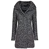 ONLY Damen Wollmantel Kurzmantel Winterjacke (S, Night Sky)