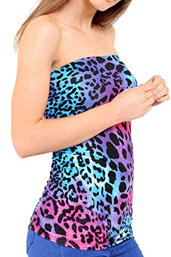 Vanilla Inc - Chemisier - Manches Courtes - Femme MULTICOLOURED LEOPARD