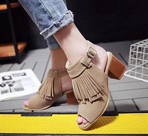SHINIK Sandales à talons compensés pour dames Sandales à talons hauts à talons Chaussures romaines Chaussures à bride de cheville Black