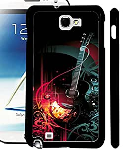 ColourCraft Guitar Design Back Case Cover for SAMSUNG GALAXY NOTE 2 N7100