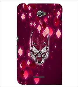 PrintDhaba Skull D-2971 Back Case Cover for SONY XPERIA E4 (Multi-Coloured)