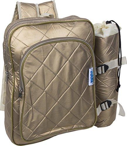 Enrico coveri zaino termico + porta bottiglie termico ideale per campeggio, pic-nic, escursioni e mare. e' una borsa frigo con capacità 12+1,5 litri in vari colori (oro)