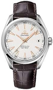 Omega Herren-Armbanduhr Omega Seamaster Aqua Terra 150m Co-Axial Mens Watch Analog Automatik Leder Braun 23113422102003