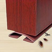 AOLVO Tira de Sellado Adeshive 1 m de PVC, Tira de Sellado Exterior para Puerta Delantera, Tira de Sellado de Puerta Externa, Impermeable, para Cortavientos, Resistente al Sonido