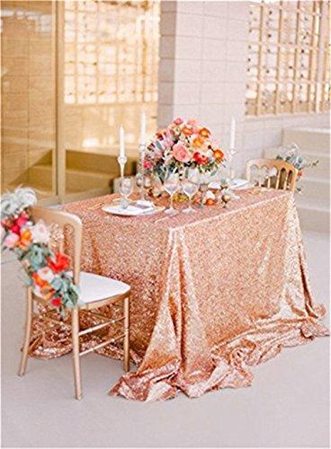 Yzeo Pailletten Hochzeit Party Home Tischdecke, Pailletten Tisch Events Tischdecke, Sonstige, Rosegold, 48