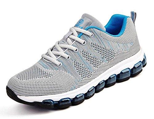 SHIXR Mouvement Homme Coussin de Coussin Complet Coussin Chaussures Antidérapant - Résistant Chaussures de Course Chaussures de Randonnée gray