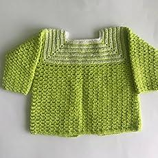 Jersey para bebé de crochet hecho a mano