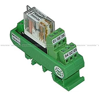 Shavison Relay Module AS391-24V-S-OE, 2C/O, 1 Channel, 24VDC Coil, OEN Relay, Reverse Blocking Diode, Socket Mounted Relay, Contact Rating : 28VDC/230VAC, 5A