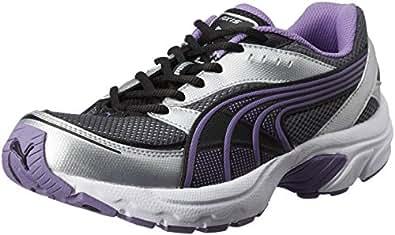 Puma Women's Axis II Wn's Black and Dalia Purple Silver Running Shoes - 5 UK/India (38 EU)