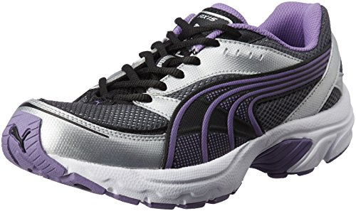 Puma Women's Axis II Wn's Black and Dalia Purple Silver Running Shoes - 4 UK/India (37 EU)