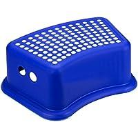Preisvergleich für Großer Deluxe extrastarker, rutschfester Fusshocker, in 3 Farben, plastik, blau, 37 x 24 x 13 cm
