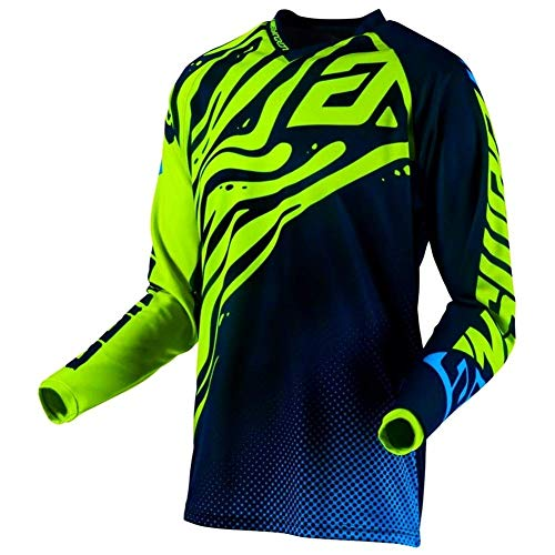 Answer Syncron Air Flow Youth - Maglia da Motocross da Uomo Hyper Acid/Midnight/Astana S