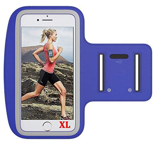 LUCKLYSTAR Sportarmband für Mobiltelefone und Handys X-Large Marineblau